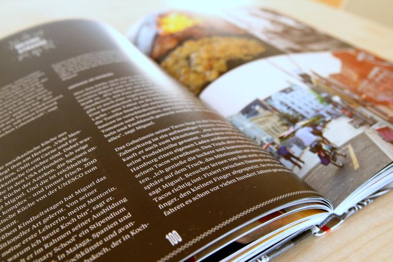 Der Foodtruck und die Story dahinter gibt es jeweils auf einer Doppelseite