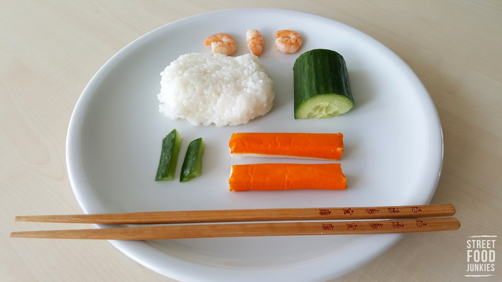 Mittagessen Reste Sushi