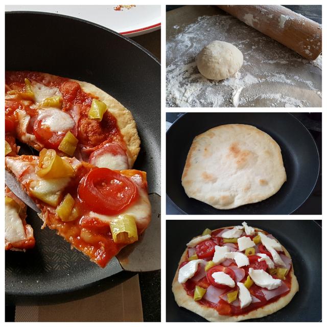 Pfannenpizza-Vorgehensweise