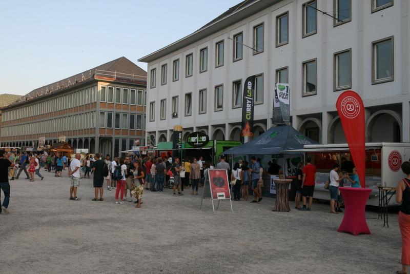 Platz für das Streetfood-Festival in Karlsruhe