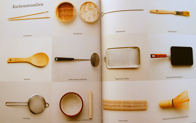 Kochcbuch Asiatisch Kochen - asiatische Kochutensilien