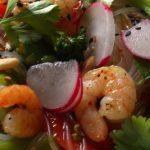 Salat-Garnelen-Glasnudeln-Gemuese