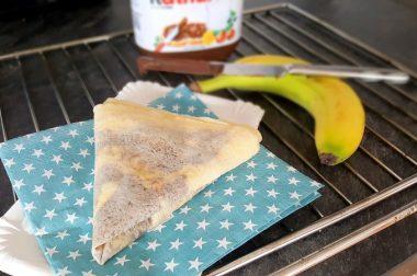 Ein französischer Klassiker: Crêpes mit Nutella (und mit Bananen)