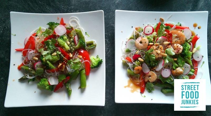 Lauwarmer-Salat-asiatisch