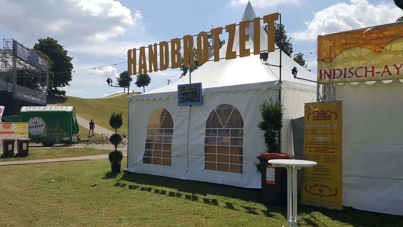Handbrotzeit auf Festival DAS FEST - Essen auf die Hand