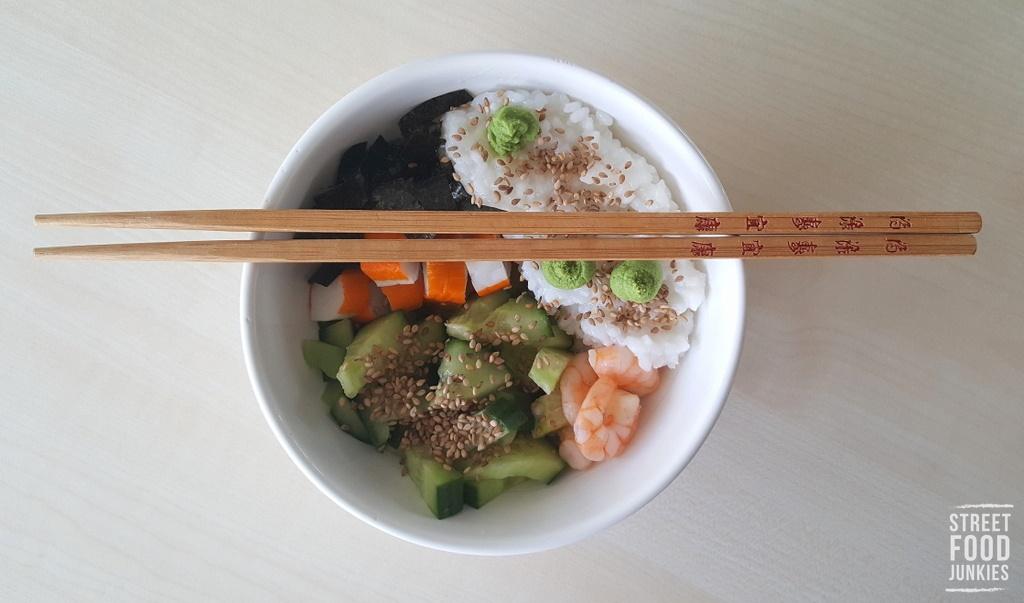 Mittagessen Mittagspause Reste Sushi