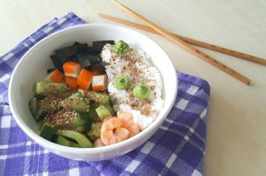 Ein Stück Asien in der Mittagspause: Sushi Bowl
