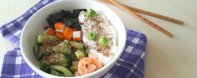 Asiatisch-essen-Mittagspause-Sushi