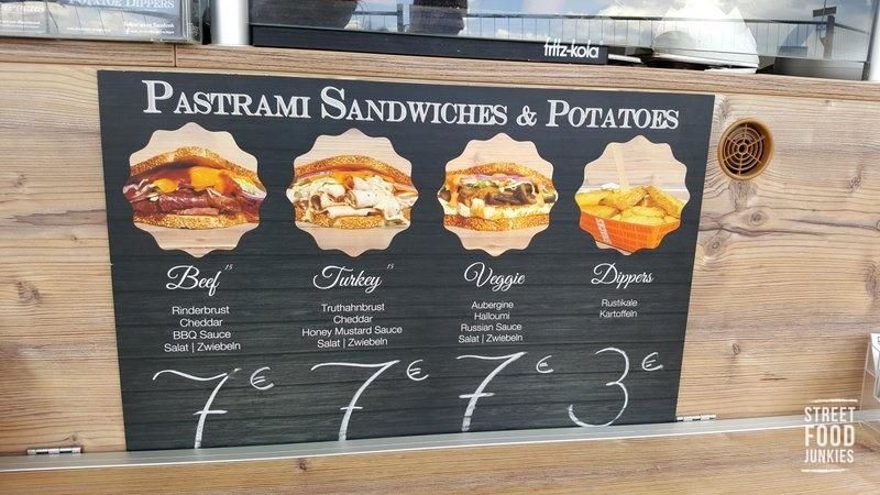 Frachtgut Foodtruck Speisekarte Sandwiches