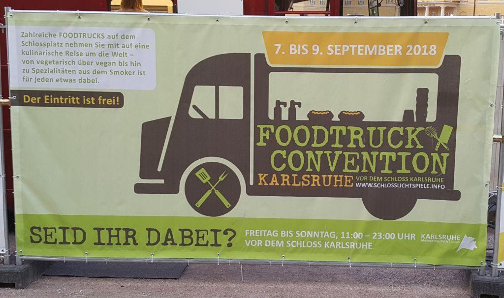 Werbung für die Foodtruck Convention Karlsruhe
