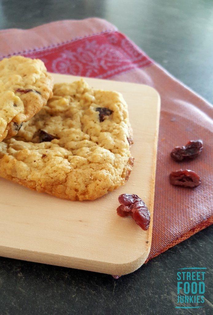 Cookies mit Hauptzutat getrocknete Cranberries