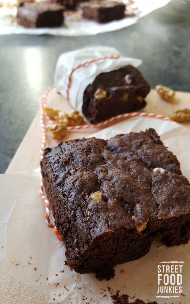 Brownies mit Zartbitterschokolade